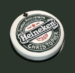 Gateau d'anniversaire Heineken