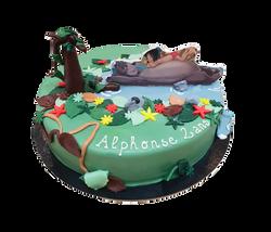 Gâteau livre de la jungle.