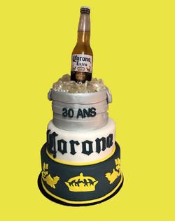 Gâteau d'anniversaire Corona