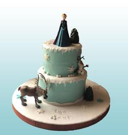Gâteau d'anniversaire Frozen
