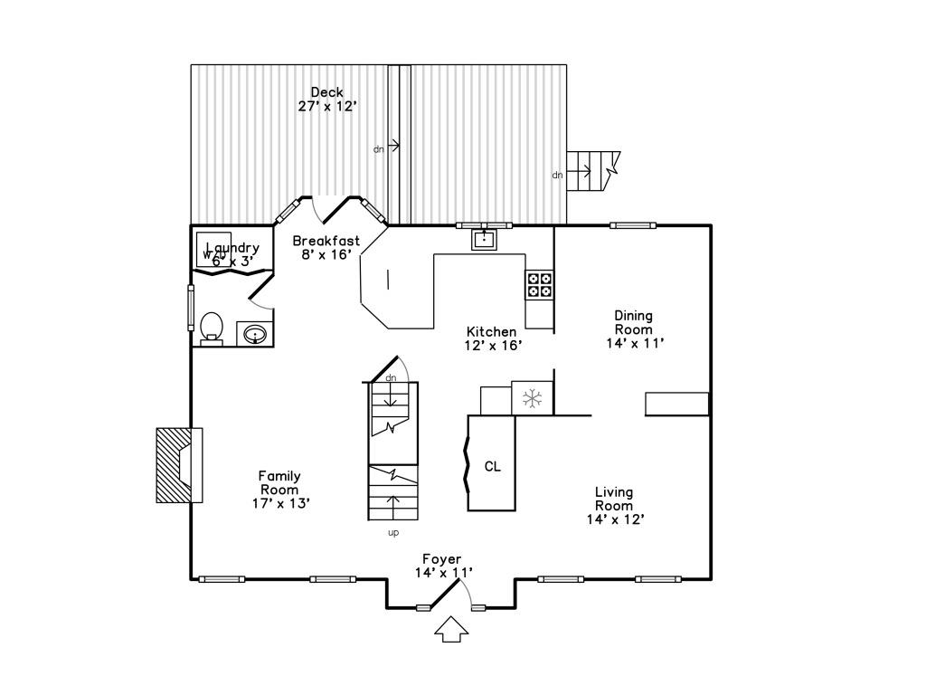 152 Neponset Street - 1st Floor Plan