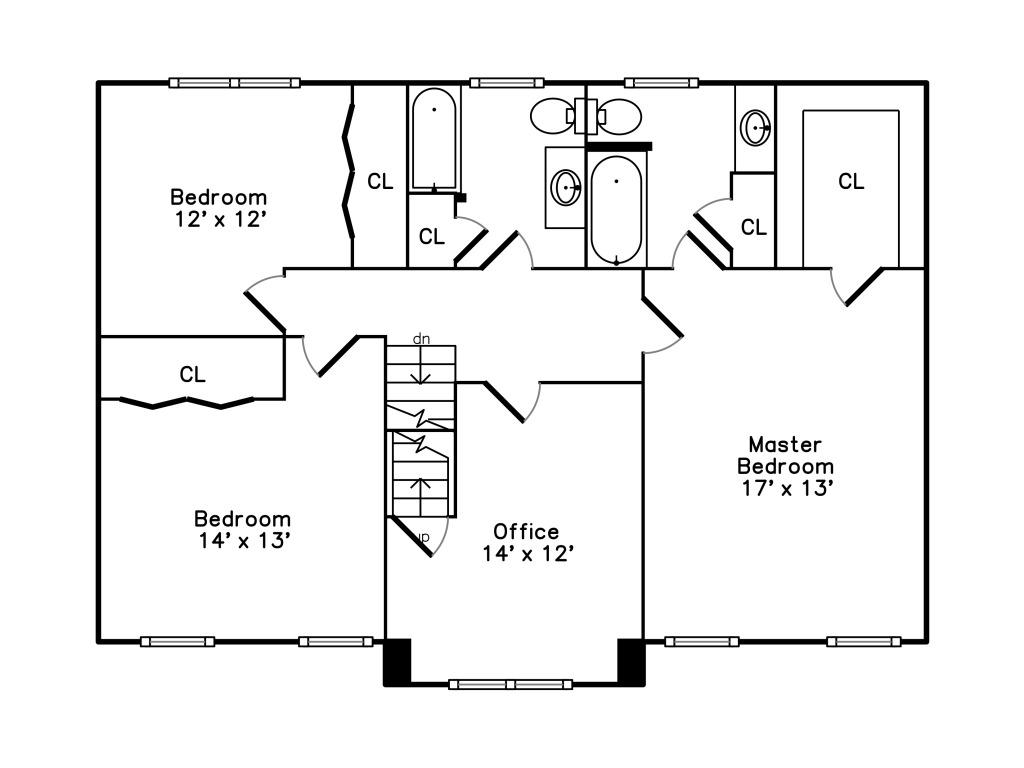 152 Neponset Street - 2nd Floor Plan