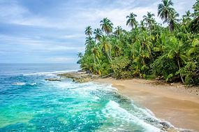 Wild caribbean beach of Costa Rica - Man