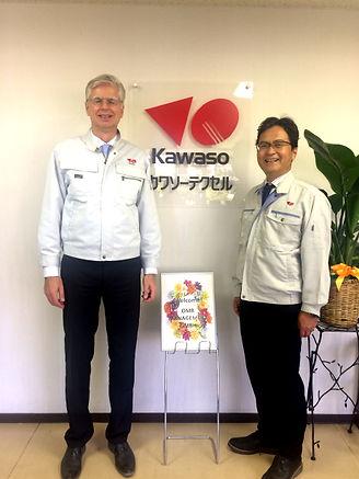 M氏は日本の工場にも来社いただきました