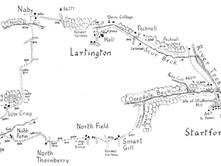 Startforth through Deepdale to Lartington