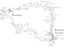 Middleton-in-Teesdale to Skears & Newbiggin