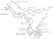 Lealholm along the northern slopes of Eskdale to Glaisdale