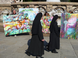 Nuns looking my pictures