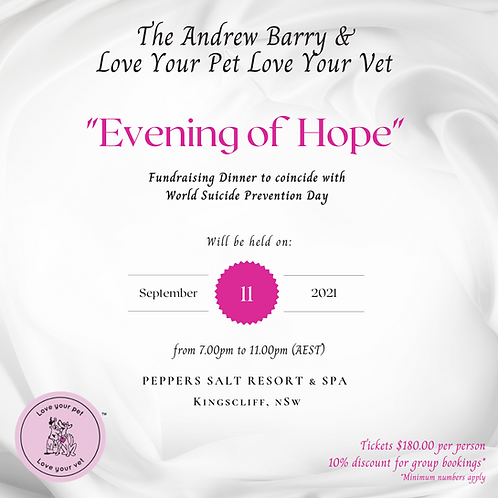The Andrew Barry & Love Your Pet Love Your Vet Fundraising Dinner