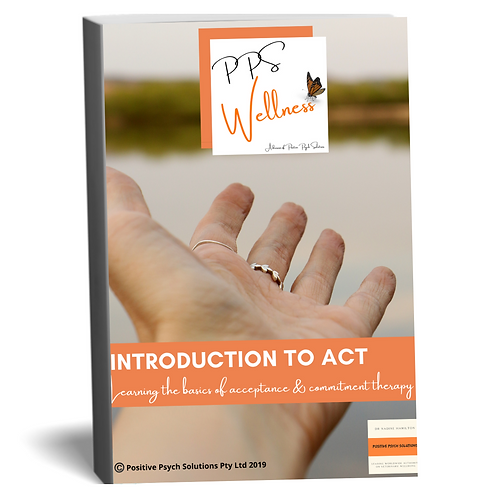 Introduction to acceptance & commitment therapy