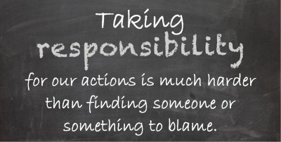 Step up and take responsibility
