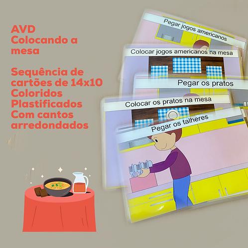 AVD - Colocando a mesa