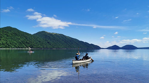 Day Camp & Canoe Tour at Lake Shikotsu