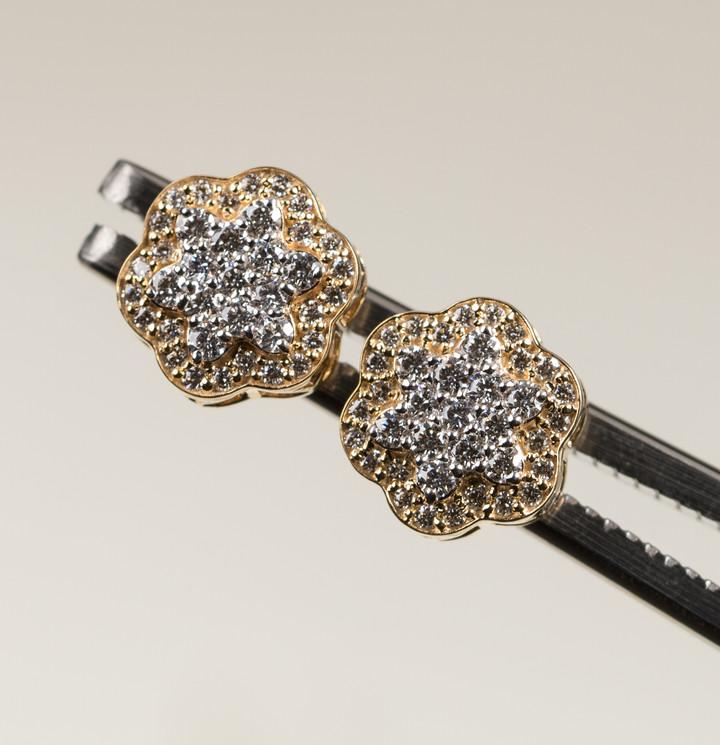 Snowflake Cluster Earrings