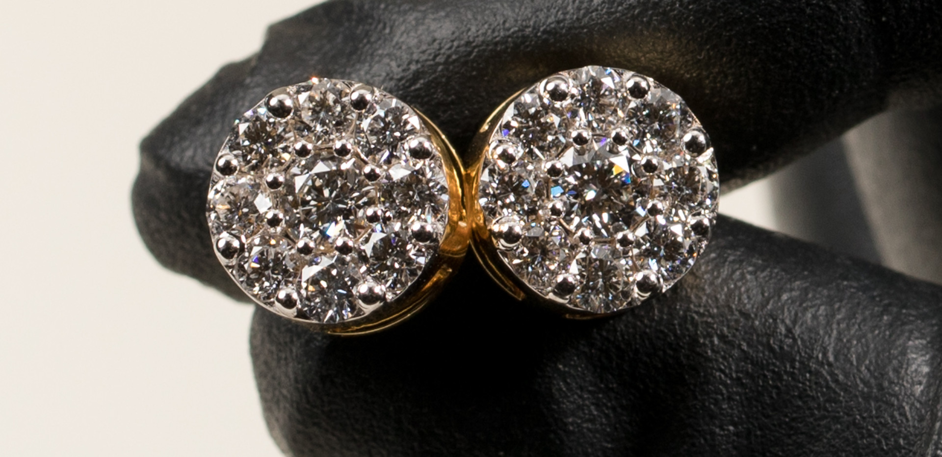 14K Gold Cluster Earrings