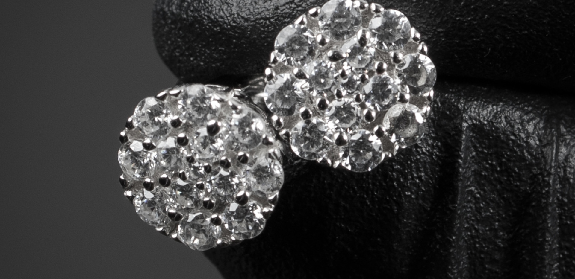 Mini Cluster Diamond Earrings