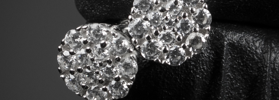 Mini Cluster Diamond Earrings