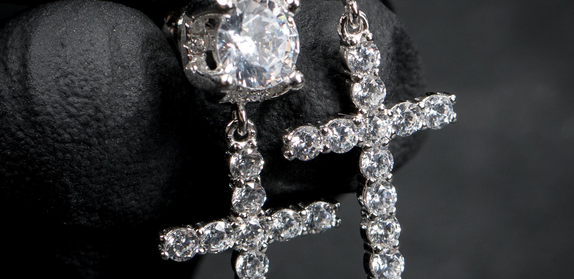 Stud Cross Earrings Designed By. Tim Da Jeweler