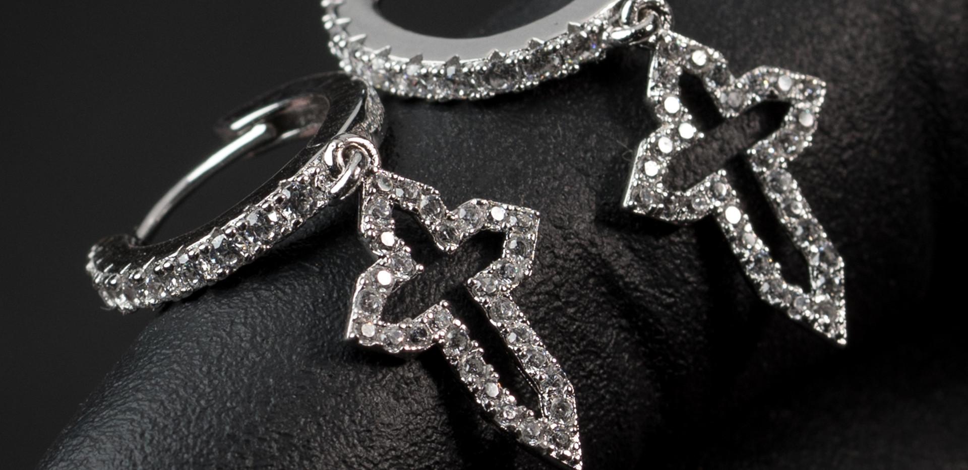 Cross Hoops Designed By. Tim Da Jeweler