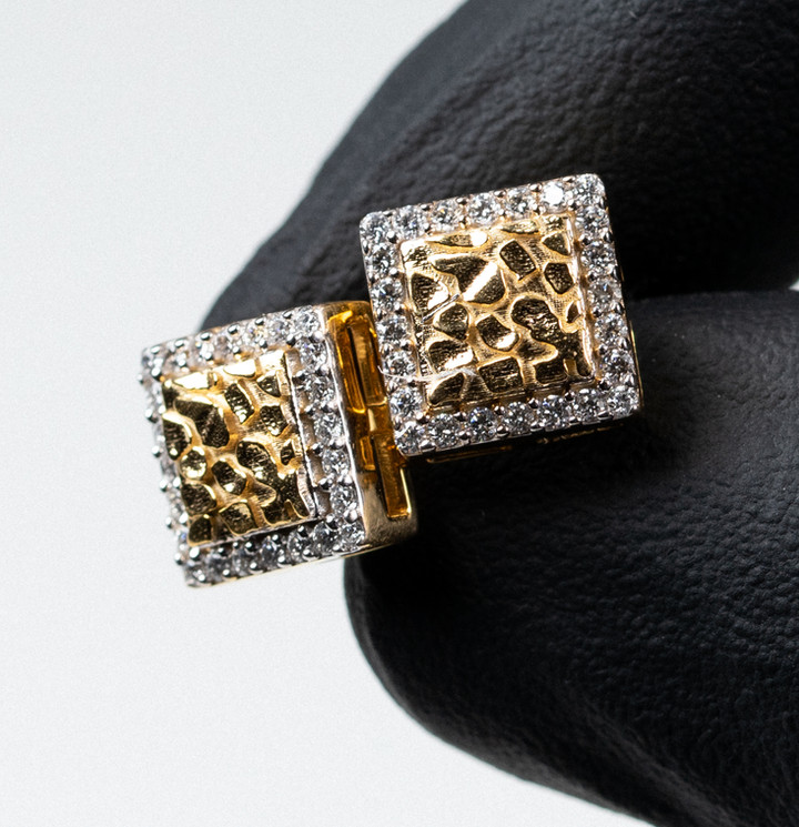 Square Nugget Earrings