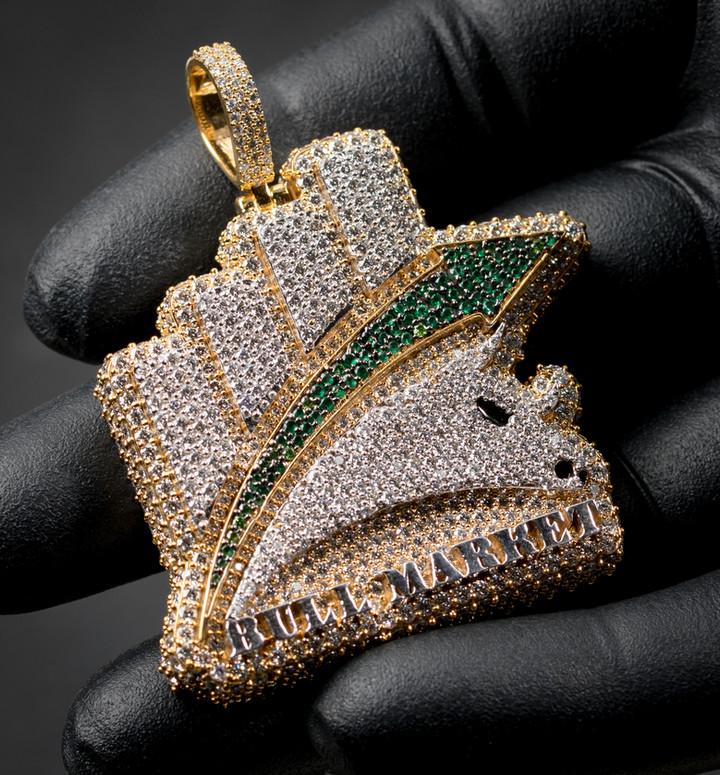 Bull Market Pendant Designed By. Tim Da Jeweler