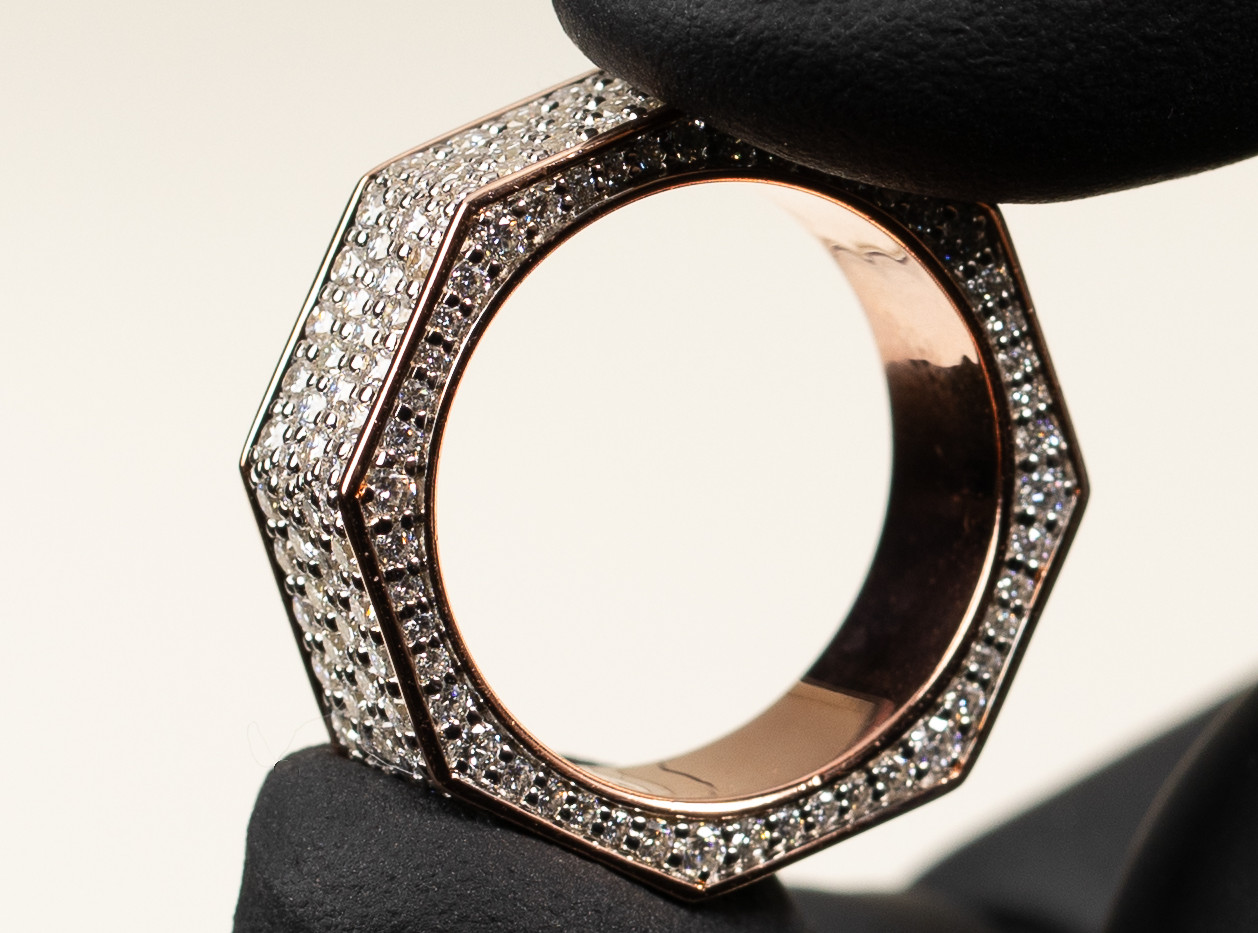 Custom Octagon Ring