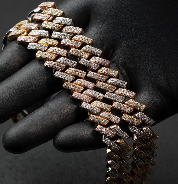 Tri Tone Cuban Designed By. Tim Da Jeweler