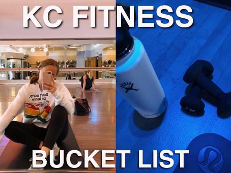 KC Fitness Bucket List (Studios, Instructors, Classes)