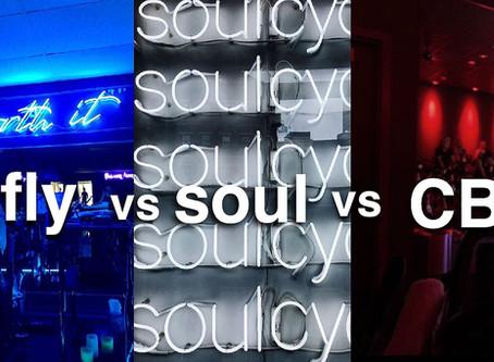 Fusion Fly vs SoulCycle vs CycleBar
