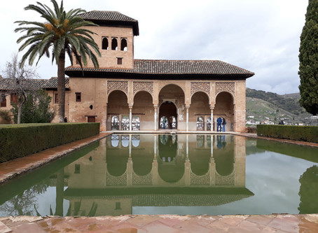Palace gardens at Alhambra Spain