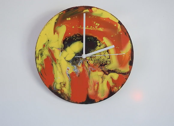 Abstract Hand Painted Clock