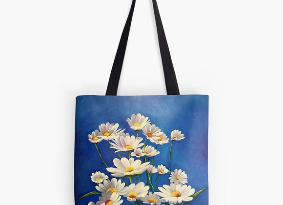 Swinging White Daisies Tote Bag