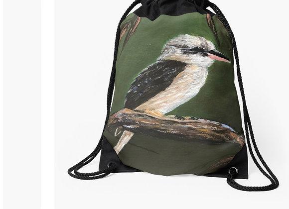 Kookaburra & Gum Leaves Tote Bag