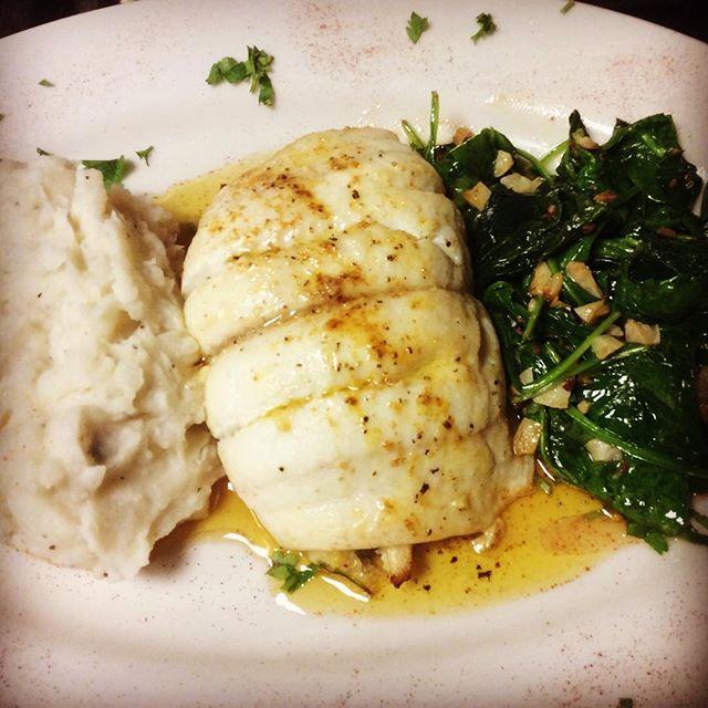 Flounder stuffed with crabmeat spinach and sun dried tomato #rivolis #rivs #rivolisgrillandchill