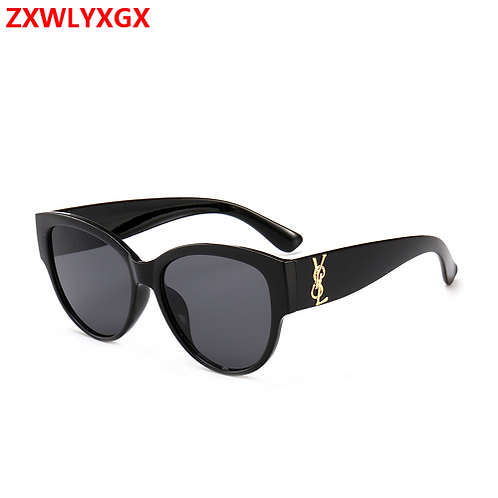 Trendy Tinted Color Vintage Shaped Sunglasses luxury Eye wear Frame Sunglasses