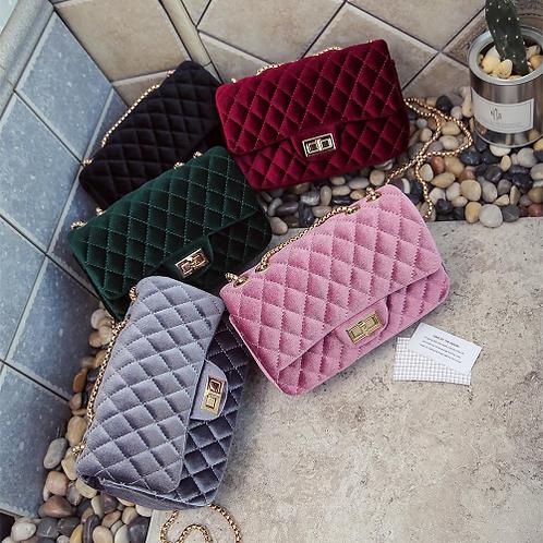 Luxury Handbags Women Bags Designer Shoulder Vintage Velvet Chain Evening Clutch