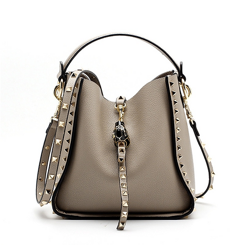 Genuine Leather Famous Brand Rivet Crossbody Bags For Women Messenger Shoulder