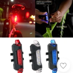 Bicycle Light Waterproof Rear Tail Light LED USB Rechargeable Mountain Bike Cycl
