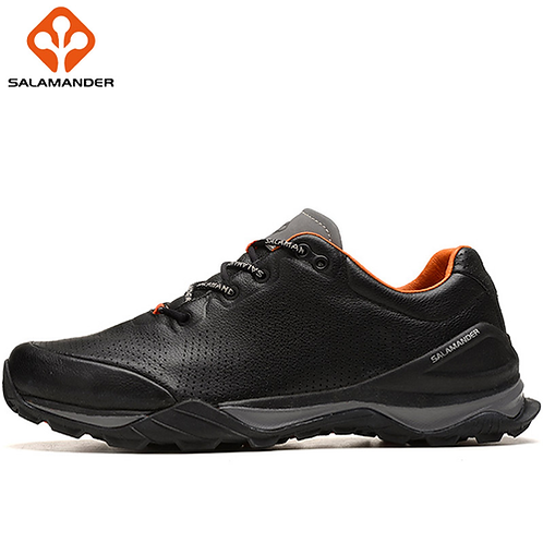 SALAMANDER Genuine Leather Mens Winter Running Shoes Man Brand Outdoor Athletic
