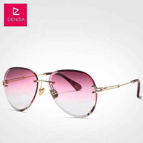 Fashion Blue Red Aviation Sunglasses Women Men Driving UV400 Sun Glasses Clear V