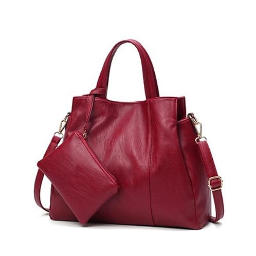 Luxury Handbags Women Bags Designer High Quality PU Leather Handbags Solid