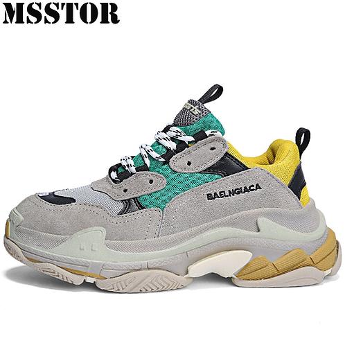 MSSTOR Retro Women Men Running Shoes Woman Brand Summer Breathable Sport Shoes