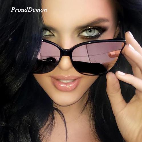Women Colour Luxury Flat Top Cat Eye Sunglasses Elegant oculos de sol men Twin