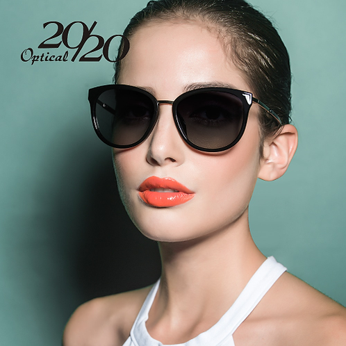 20/20 Polarized sunglasses women Retro Style Metal Frame Sun Glasses Famous Lady