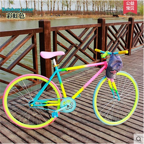 X-front brand colorful carbon steel 26 inch fixed gear rear pedal brake biciclet