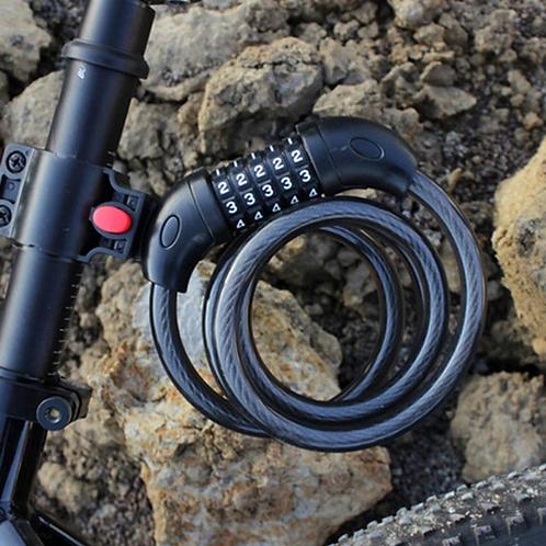 Bike Lock 5 Digit Code Combination Bicycle Security Lock 1200 mm x 12 mm Steel