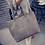 Thumbnail: Women Scrub Leather Handbag Black Grey Causal Tote Bag Large Capacity Shoulder b