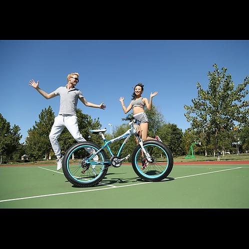 7Speed Disc brakes Fat bicicleta Beach Bicycle mountain road bike fatbike