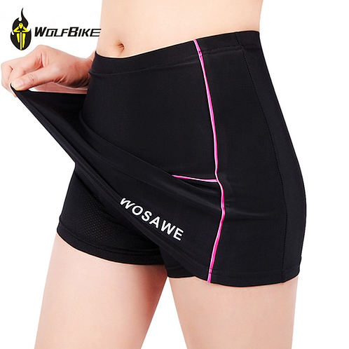 Women Cycling Shorts Skirts 4D Padded Gel Black Underpant Bicycle Bike Underwear