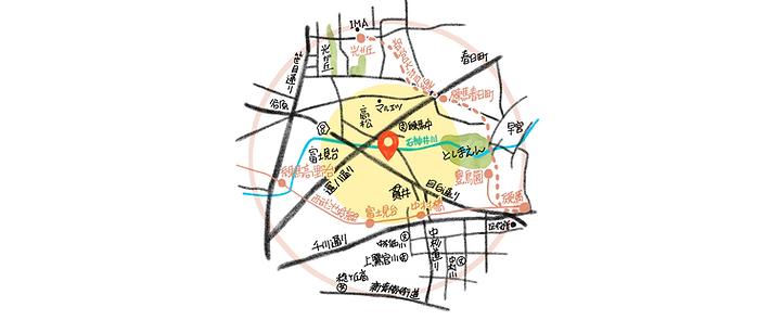ご訪問エリアのイラストマップ